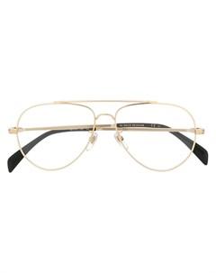 очки авиаторы в блестящей оправе David beckham eyewear