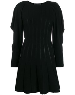 Трикотажное платье с оборками Alberta ferretti