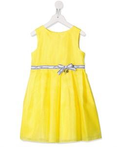 Сетчатое платье с бантом Miss blumarine