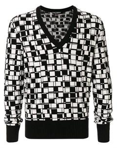 кашемировый пуловер с геометричным принтом Dolce&gabbana