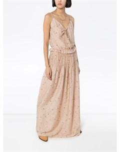 Платье макси с цветочным принтом Amiri