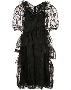 Платье миди из цветочного кружева Simone rocha