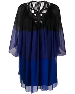 Полупрозрачное платье трапеция мини Alberta ferretti