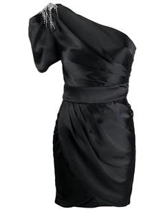 Декорированное платье на одно плечо Misha collection