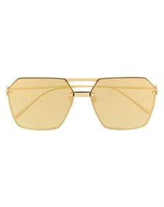Солнцезащитные очки авиаторы в геометричной оправе Bottega veneta eyewear