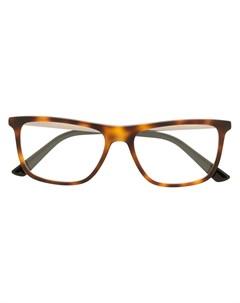 солнцезащитные очки черепаховой расцветки Gucci eyewear