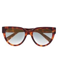 Солнцезащитные очки в оправе кошачий глаз черепаховой расцветки Givenchy eyewear