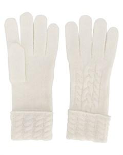 перчатки фактурной вязки N.peal