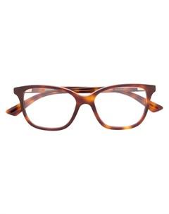 очки авиаторы черепаховой расцветки Mcq alexander mcqueen