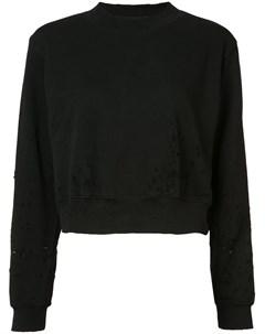 Укороченный свитер с эффектом потертости Cotton citizen