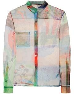 Полупрозрачная рубашка с принтом Quetsche