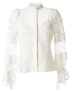Блузка с оборками и кружевными вставками Alexis