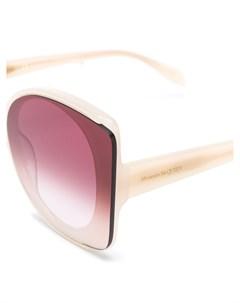 Солнцезащитные очки в квадратной оправе в стиле колор блок Alexander mcqueen eyewear