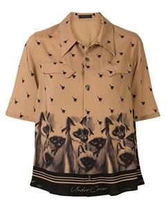 Рубашка с короткими рукавами и принтом Undercover