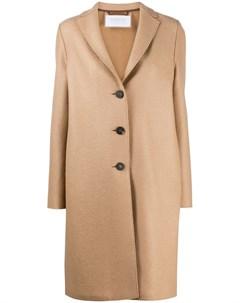 Однобортное пальто средней длины Harris wharf london