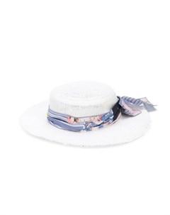 Соломенная шляпа с бантом Lapin house