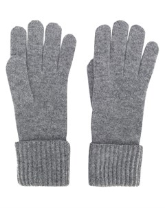 кашемировые перчатки в рубчик N.peal
