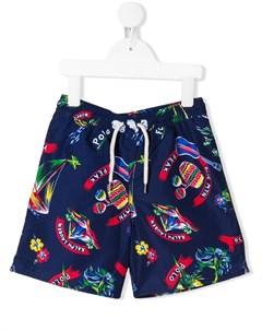 плавки шорты с принтом Ralph lauren kids