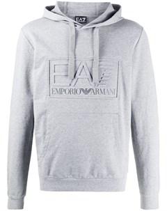 худи с кулиской и нашивкой логотипом Ea7 emporio armani