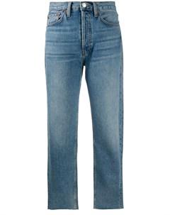 Укороченные прямые джинсы с завышенной талией Re/done