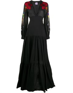 Расклешенное платье с вышивкой Stella jean