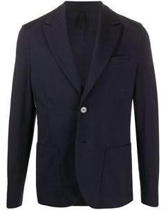 Однобортный пиджак узкого кроя Harris wharf london