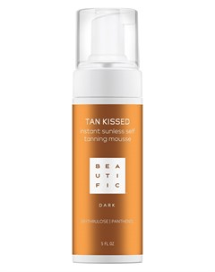Мусс автобронзант тонирующий с эритрулозой и пантенолом для тела Dark TAN KISSED 150 мл Beautific