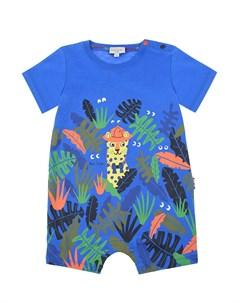 Синий песочник с принтом джунгли Paul smith