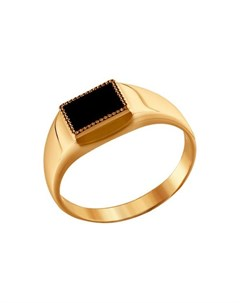 Перстень с чёрным ониксом Sokolov