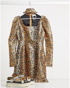 Платье с леопардовым принтом и вырезом Milk It Vintage The ragged priest