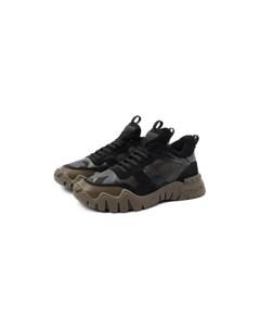 Комбинированные кроссовки Garavani Rockrunner Valentino