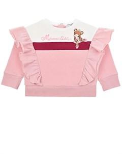 Розовый свитшот с оборками детский Monnalisa