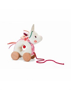 Каталка игрушка на веревочке мягкая Единорожка Луиза Lilliputiens