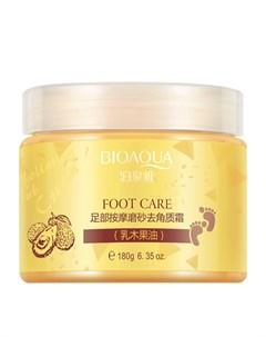 Крем для ног Shea Butter Foot Massage Exfoliating Cream Bioaqua