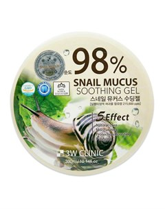 Гель с улиткой Snail Mucus Soothing Gel 98 3w clinic