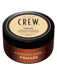 American crew помада со средней фиксацией и высоким уровнем блеска для укладки pomade 85 г