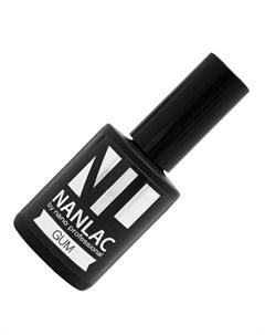 гель лак базовый nanlac gum 15 мл базовое покр средней степени вязкости Nano professional