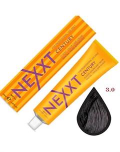 крем краска 3 0 темный шатен 100мл Nexxt