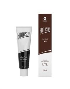Innovator cosmetics bronsun краска для бровей и ресниц 4 каштан 15 мл