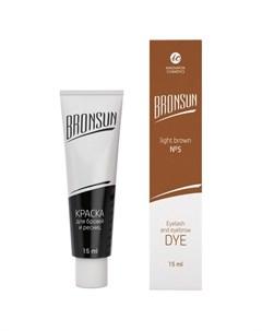 Innovator cosmetics bronsun краска для бровей и ресниц 5 светло коричневый 15 мл