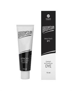 Innovator cosmetics bronsun краска для бровей и ресниц 1 черный 15 мл