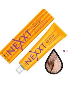крем краска 9 1 блондин пепельный 100мл Nexxt