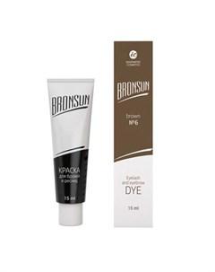 Innovator cosmetics bronsun краска для бровей и ресниц 6 коричневый 15 мл