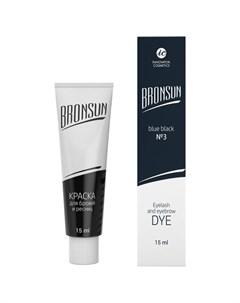Innovator cosmetics bronsun краска для бровей и ресниц 3 иссине чёрный 15 мл