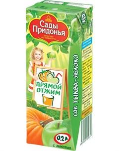 Сок тыква яблоко с мякотью 200мл Сады придонья