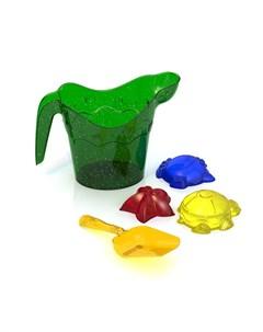 Набор для песка лейка совочек 3 формочки Нордпласт