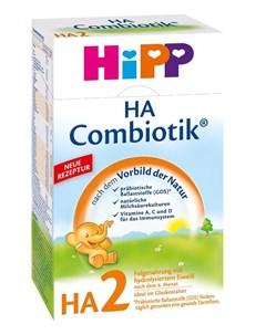 Сухая гипоаллергенная последующая молочная смесь Hipp Combiotic HA 2 500гр