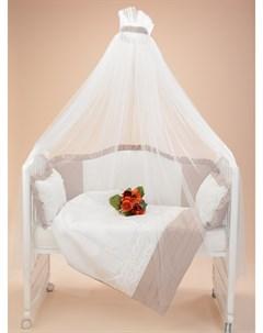 Комплект в кроватку Dolce Vita 7 предметов крем брюле Sweet baby