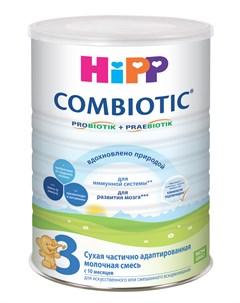 Сухая частично адаптированная молочная смесь Hipp Combiotic 3 800гр