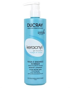 Гель очищающий Keracny для лица и тела 400мл Ducray